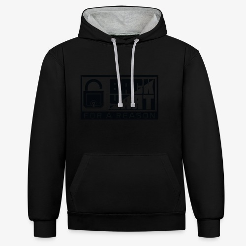 backart - for a reason - Contrast Colour Hoodie