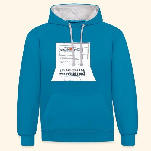 Laptop 20CENT Retail - Sweat-shirt contraste