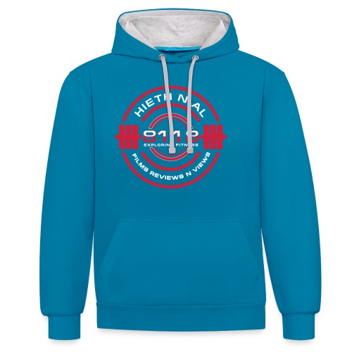 8118 Exploring Fitness - Contrast Colour Hoodie