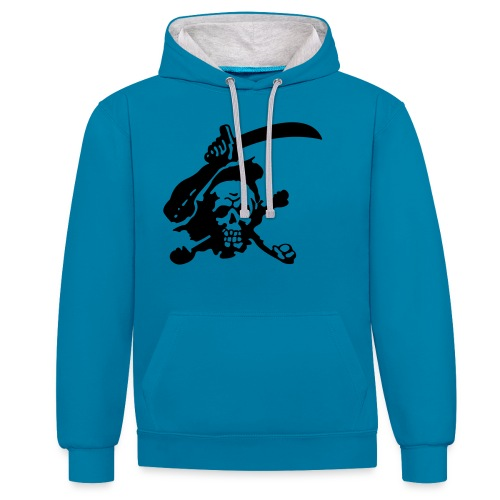 Skull Attack - Contrast Colour Hoodie