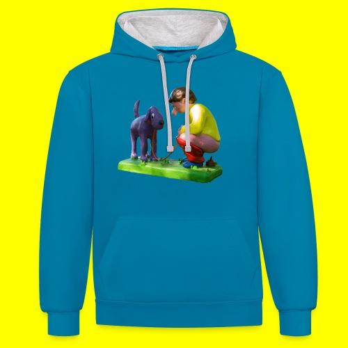 Mannetje Poep vrijstaand - Contrast hoodie