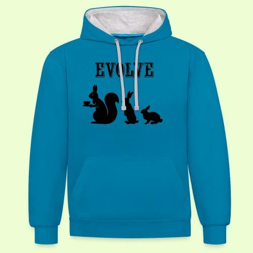 EvolveBunny - Contrast hoodie