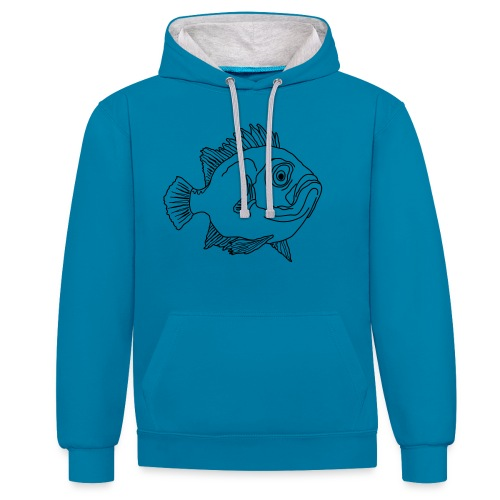 Fische Barsche Ozean Meerwasser Aquarium Angeln - Contrast Colour Hoodie