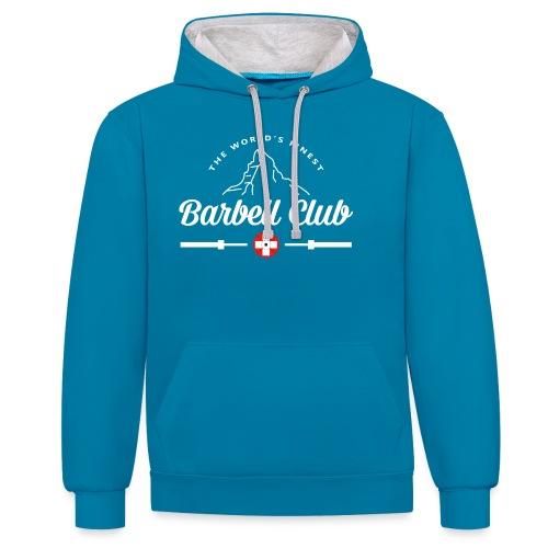 The world's finest Barbell Club - Kontrast-Hoodie