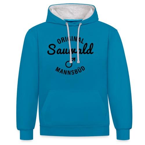 original sauwald mannsbüd 01 - Kontrast-Hoodie