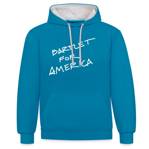 Bartlet For America - Contrast Colour Hoodie