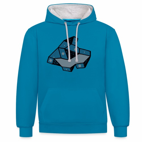 dot rock - Contrast hoodie
