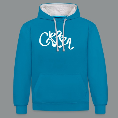 Kinder/ Tiener Shirt Unisex (rug) - Contrast hoodie