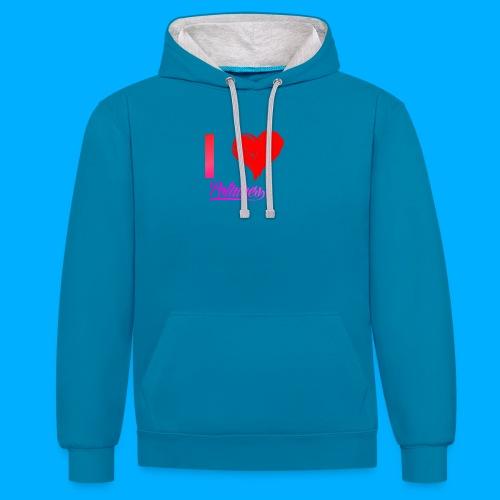 I Heart Potato T-Shirts - Contrast Colour Hoodie
