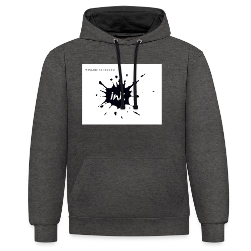 Ink Logo and website - Contrast Colour Hoodie