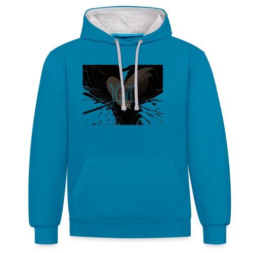 explosion d amour - Sweat-shirt contraste