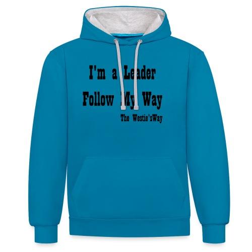 Follow My Way Black - Bluza z kapturem z kontrastowymi elementami