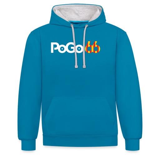 PoGo66 (texte seul) - Sweat-shirt contraste
