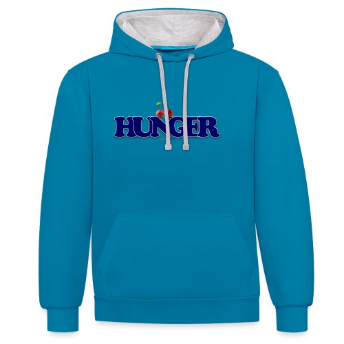 TShirt Hunger cerise - Sweat-shirt contraste