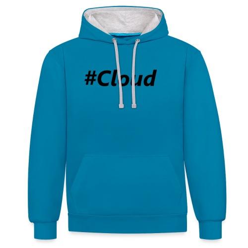 #Cloud black - Kontrast-Hoodie