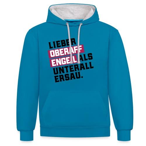 Ober-AFFEN-GEIL - Kontrast-Hoodie