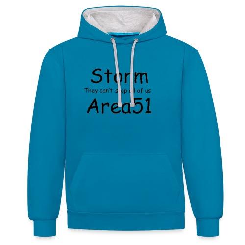 Storm Area 51 - Contrast Colour Hoodie