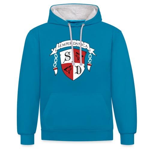 SD logo - hvide lænker - Kontrast-hættetrøje