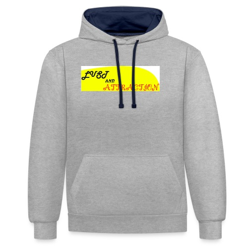 lust ans attraction - Contrast Colour Hoodie