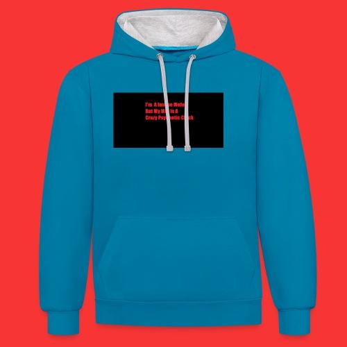 Mens - Contrast Colour Hoodie