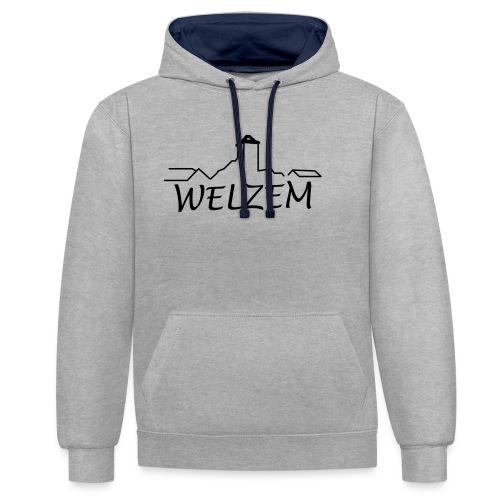 Welzem - Kontrast-Hoodie
