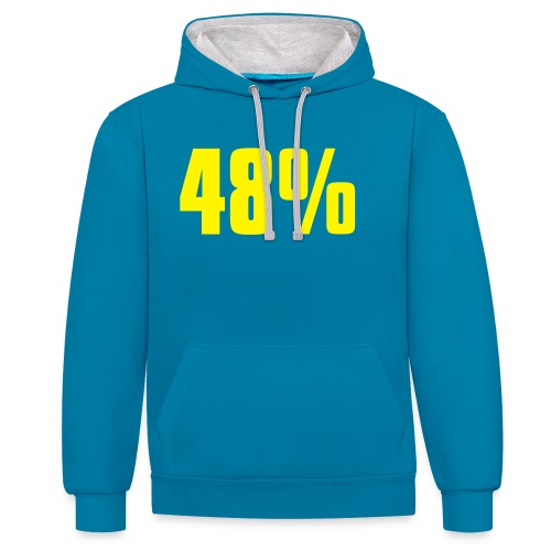 48% - Contrast Colour Hoodie
