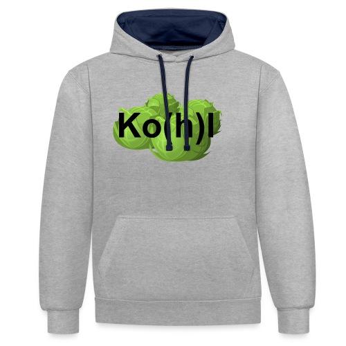 Ko(h)l - Kontrast-Hoodie