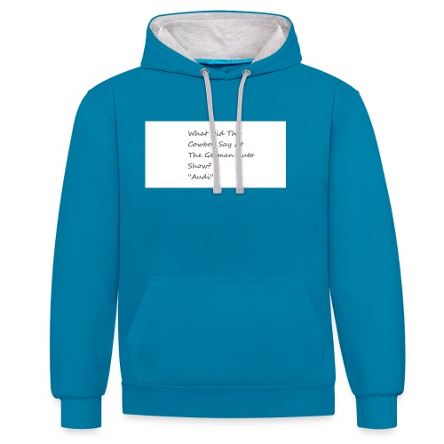 Car Joke - Contrast Colour Hoodie