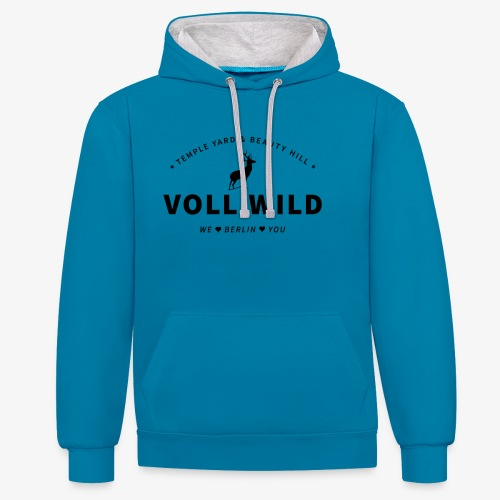 Voll wild // Temple Yard & Beauty Hill - Kontrast-Hoodie