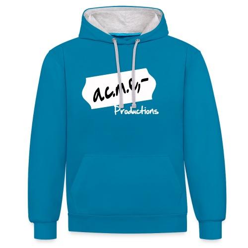 acmeproductionswhite - Kontrast-Hoodie