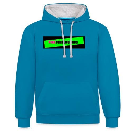 pinklogo - Contrast hoodie