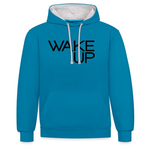 Wake Up Official - Felpa con cappuccio bicromatica