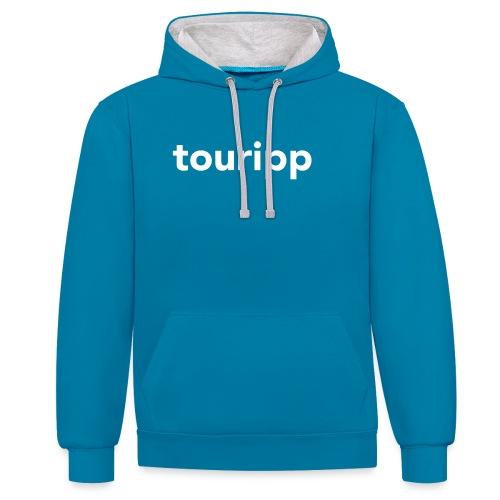 Touripp - Felpa con cappuccio bicromatica