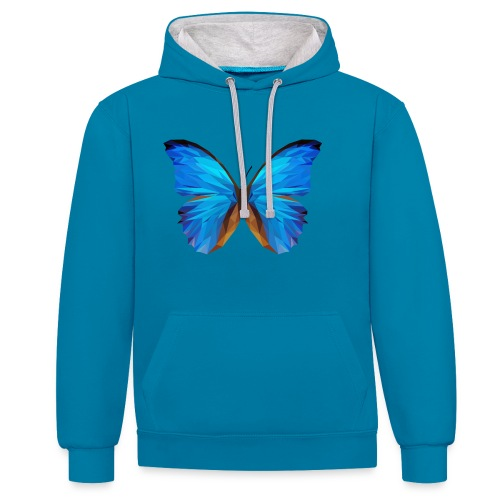 PAPILLON - MINIMALISTE - Sweat-shirt contraste