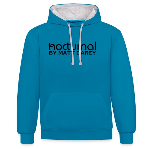 Nocturnal by Matt Darey Black - Contrast Colour Hoodie