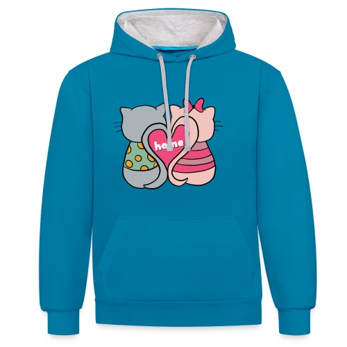 Cats - Contrast Colour Hoodie