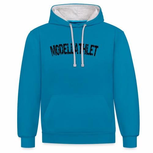 Modellathlet, T-shirt für Bodybuilder und Sportler - Kontrast-Hoodie