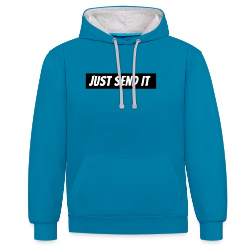 just send it logo - Contrast Colour Hoodie