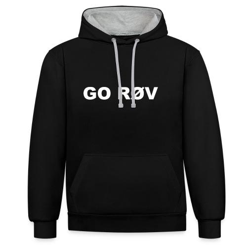 GO RØV - Kontrast-hættetrøje