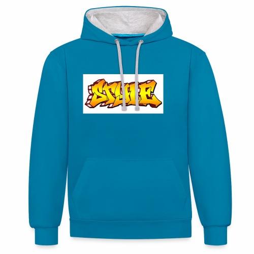 Camiseta estilo - Sudadera con capucha en contraste
