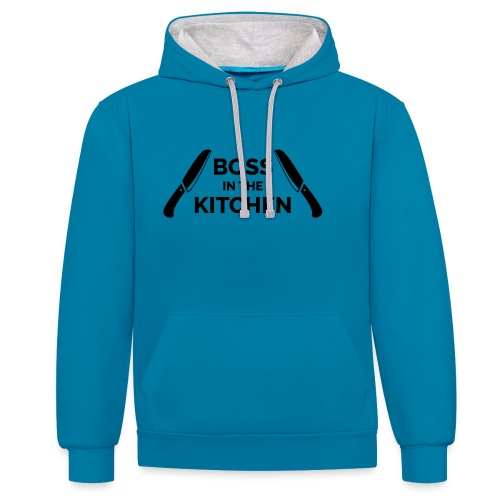 Boss in the Kitchen - Contrast Colour Hoodie
