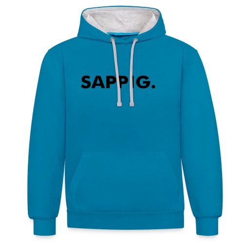 SAPPIG. - Contrast hoodie
