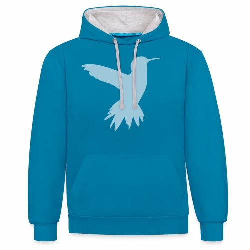 Kolibri - Kontrast-Hoodie
