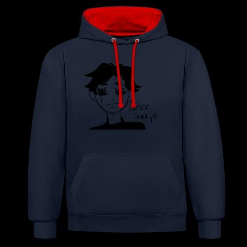 Feeling Vulnerable - Contrast hoodie