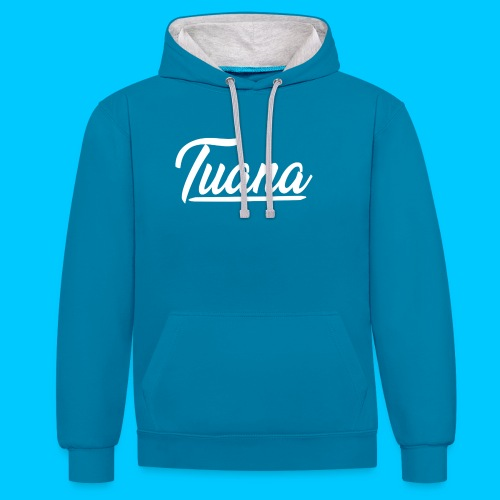 Tuana - Contrast hoodie