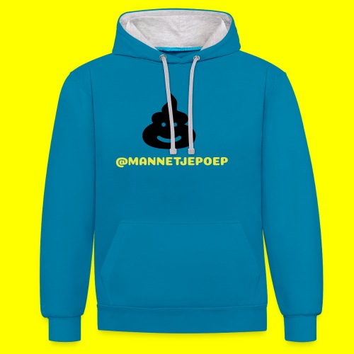 Mannetje Poep Shit - Contrast hoodie