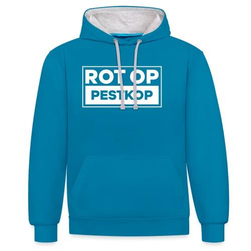 Rot Op Pestkop - Block White - Contrast hoodie