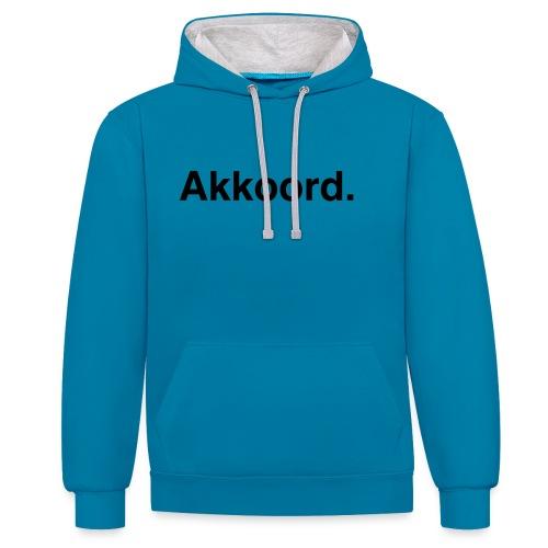 Akkoord - Contrast hoodie