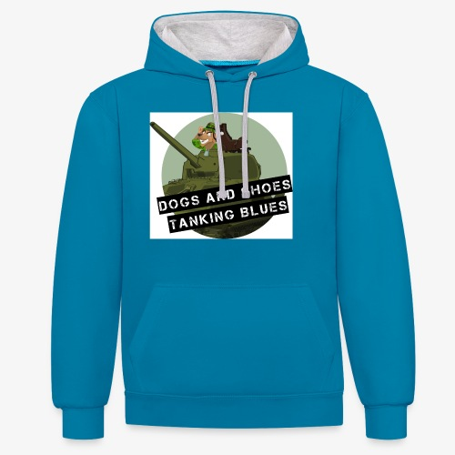 logo dogs nieuw - Contrast hoodie