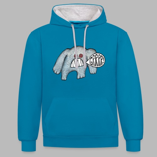 with added GRRRR - Contrast Colour Hoodie